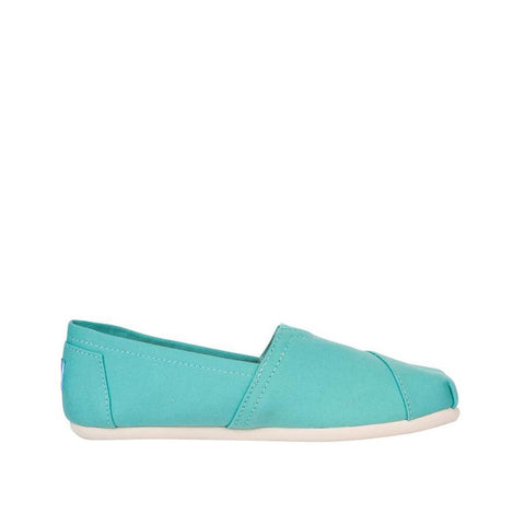 Toms Womens Canvas Slip-on Alpargata Flat Turquoise Canvas 10009732