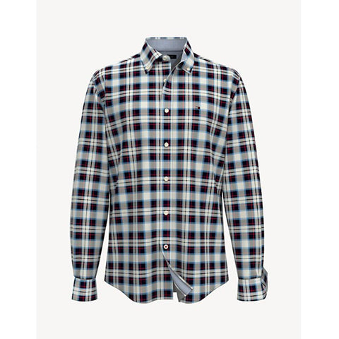 Tommy Hilfiger Tartan Long Sleeve Bright White 78J0987 110