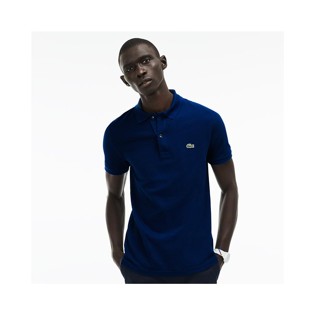 fc4ba4016 Lacoste Mens Slim fit Petit Pique Polo Shirt Marino PH4012-51 Q1Y ...