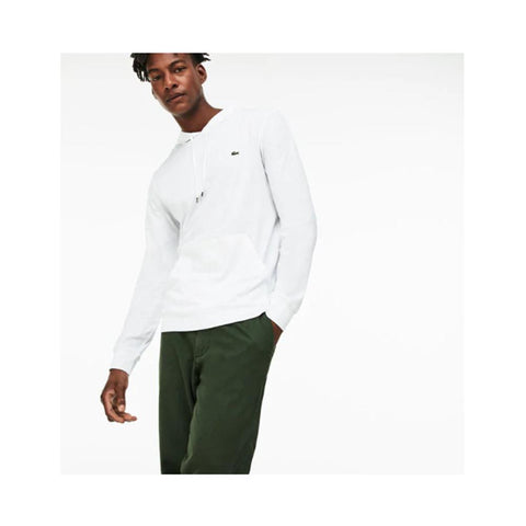 Lacoste Men's Hooded Cotton Jersey Sweatshirt White TH9349-51 001