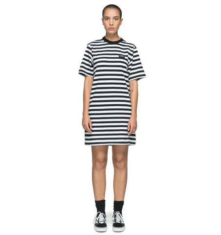 Stussy Murray Striped T-shirt Dress Black 214470