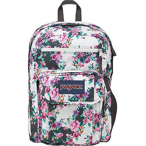 Jansport Digital Student Backpack Multi Grey Floral Flourish JS00T69D0A1