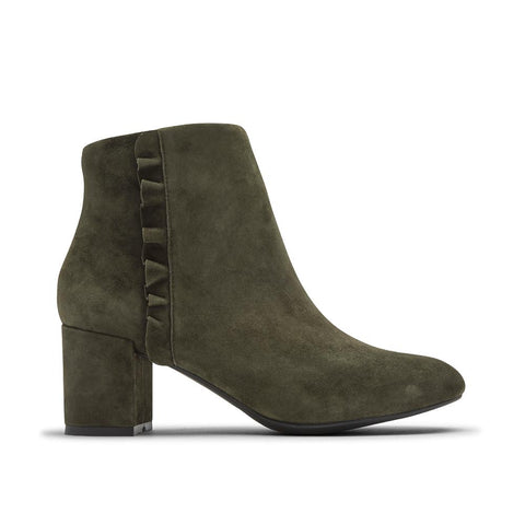 Rockport Total Motion Oaklee Ruffle Boots Evergreen CH6788