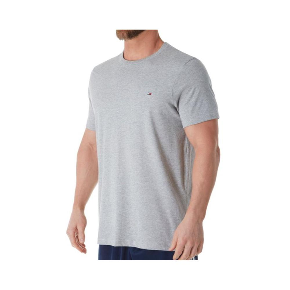 Tommy Hilfiger Flag Crew Neck Tee Gray Heather 09T3139 004
