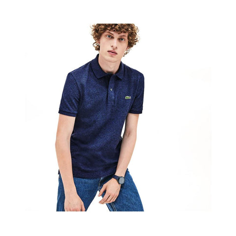 Lacoste Men's Slim fit Petit Pique Polo Shirt Dark Indigo Blue PH4012-51 3GF