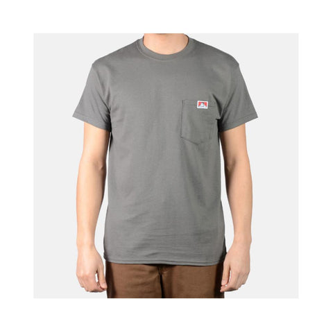 Ben Davis Classic Label Pocket T-Shirt Charcoal 9021
