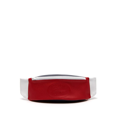 Lacoste Leather Waist Bag White peacoat red NH2447XV-B20