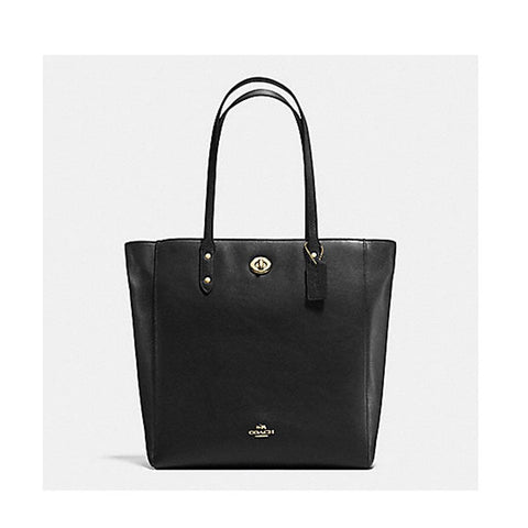 Coach Pebble Leather Twin Tote Black F12184