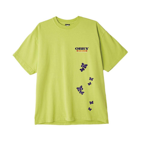 Obey To The Children Heavyweight Box T-Shirt Bright Lime 166912314