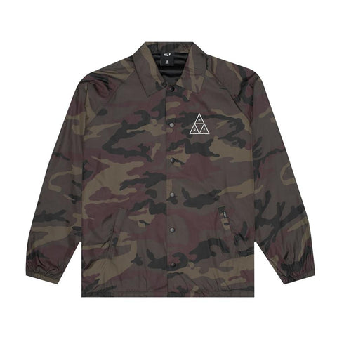 Huf Essentials Triple Triangle Coaches Jacket Woodland JK00116