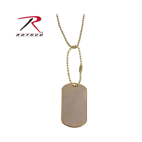 Rothco Military dog Tag Gold 8386