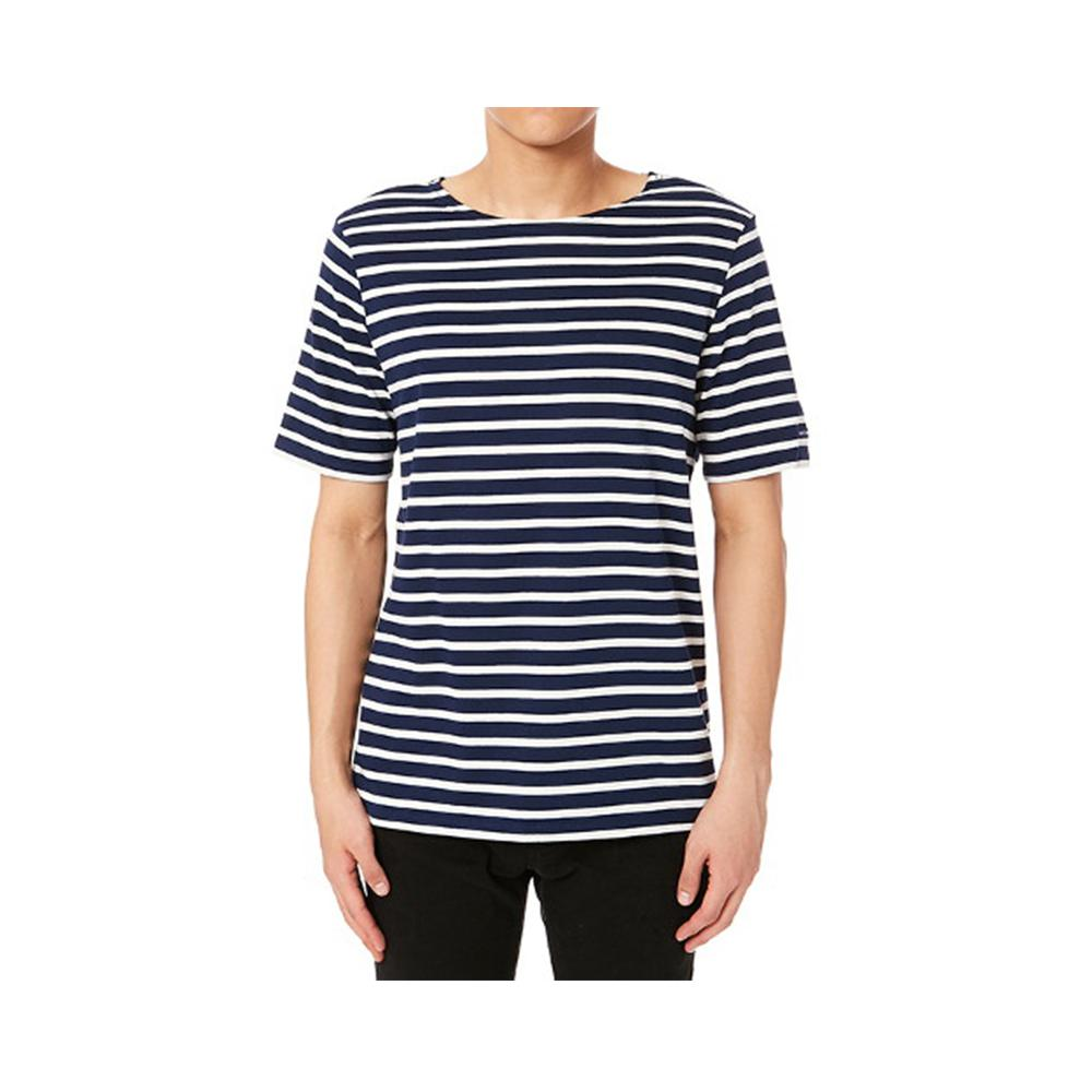 Saint James LEVANT MODERNE Breton Stripe Short Sleeve Shirt Marine/Ecru 9863-51