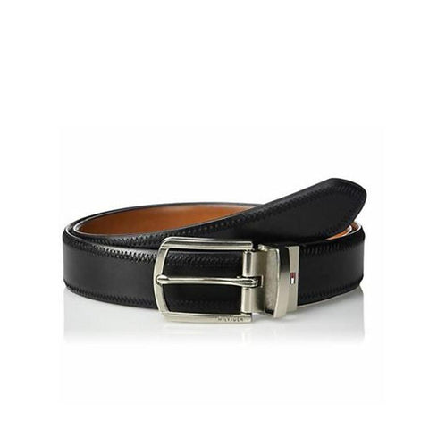 Tommy Hilfiger Men's Reversible 32MM Polished Belt Black/Brown 11TL02X188