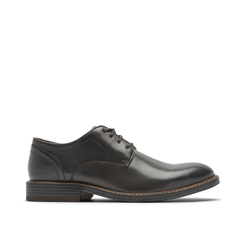 Rockport Men's Kenton Plain Toe Oxford Black Glass CH5581
