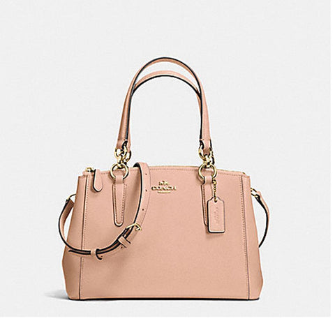 Coach Leather Christie Nude Pink  F57523
