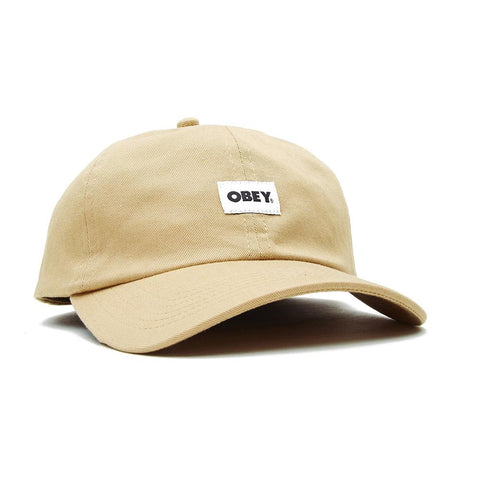 Obey Bold Label Organic 6 Panel Strapback Almond 100580256