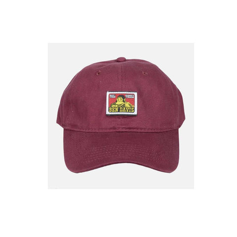 Ben Davis Cotton Twill Baseball Cap Burgundy 9230