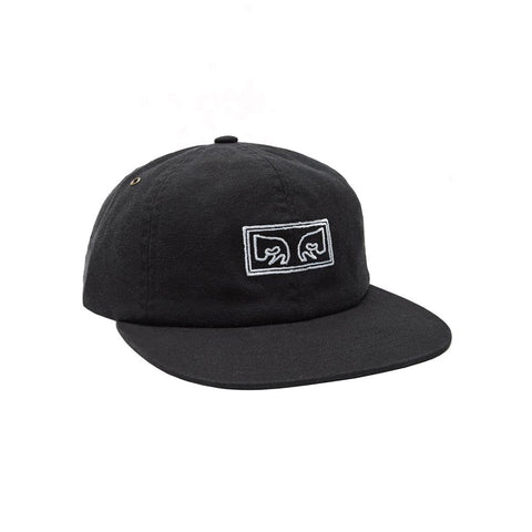 Obey Live Wire 6 Panel Hat Black 100580111