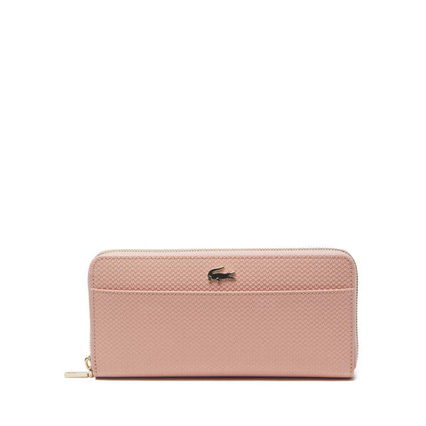 Lacoste Women's Chantaco Leather 12 Card Wallet Mellow Rose NF2739CE B86