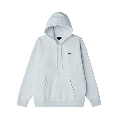 Obey Bold Box Fit Pullover Hood Ash Grey 112842349