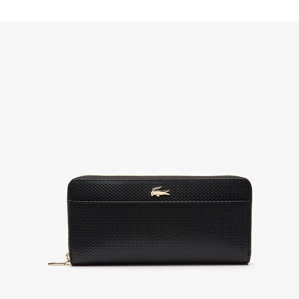 Lacoste Women's Chantaco Leather 12 Card Wallet Black NF2739CE 000