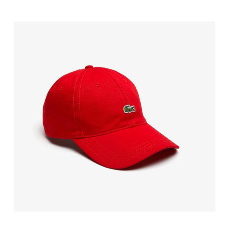 Lacoste Contrast Strap Cotton Twill Cap Red RK4714 240
