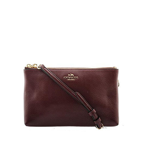 Coach Lyla Crossbody in Pebble Leather Oxblood F38273
