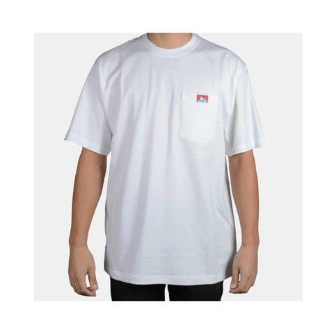 Ben Davis Classic Label Heavy Duty Short Sleeve Pocket T-Shirt White 910