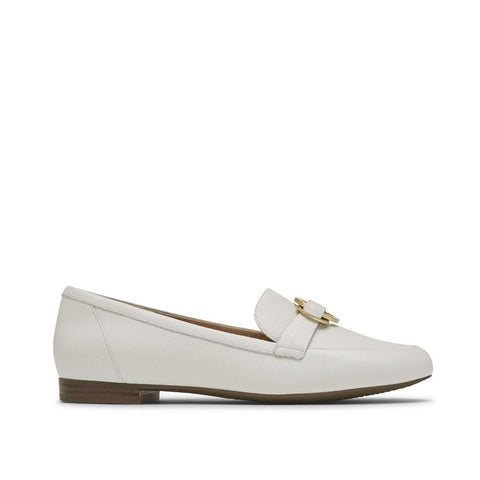 Rockport Women's Total Motion Tavia Ring Loafer White CH9014