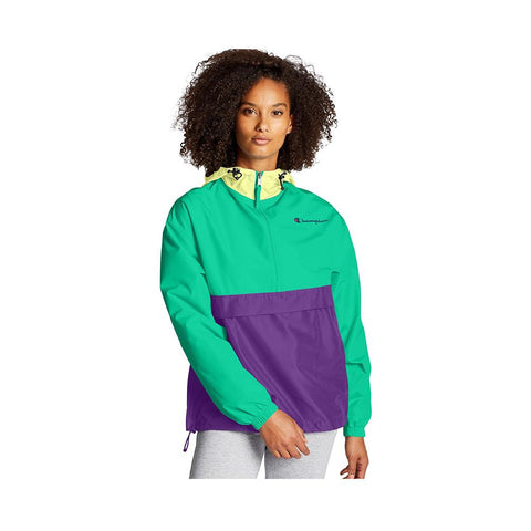 Champion Color Blocked Packable Jacket Solar Ice/Green Alive/Purple Crush J1016 9TV
