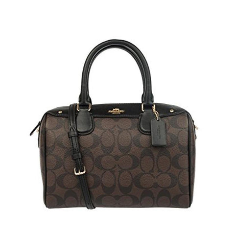 Coach Mini Bennett Satchel In Signature Black F58312