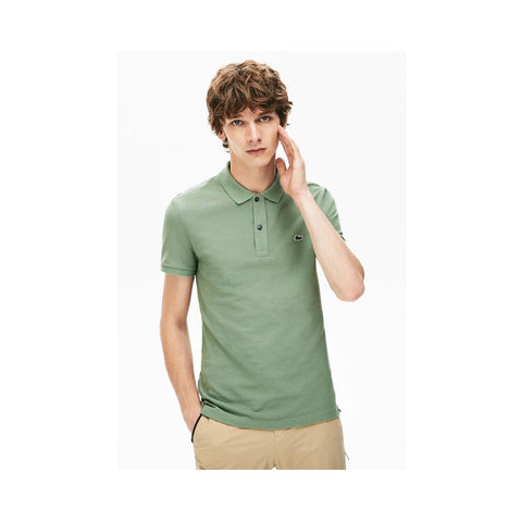 Lacoste Men's Slim fit Petit Pique Polo Shirt Thyme PH4012-51 S86