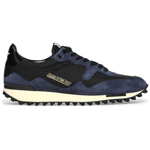 Golden Goose Starland Sneakers Blue Suede/Black G30MS456.A4