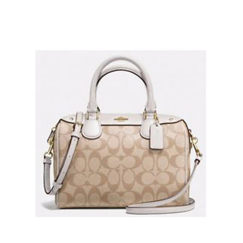 Coach Mini Bennett Satchel In Signature Chalk F58312