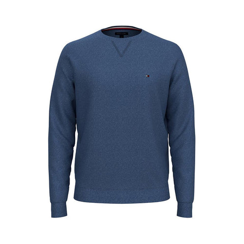 Tommy Hilfiger Men's Signature Solid Crew Neck Sweater ES13040D Mid Denim Heather 78J0478 420