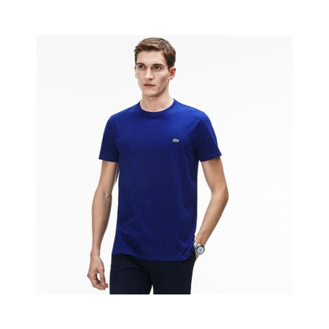 Lacoste Men's Crew Neck Pima Cotton Jersey T-shirt Electric TH6709-51 Z7Z