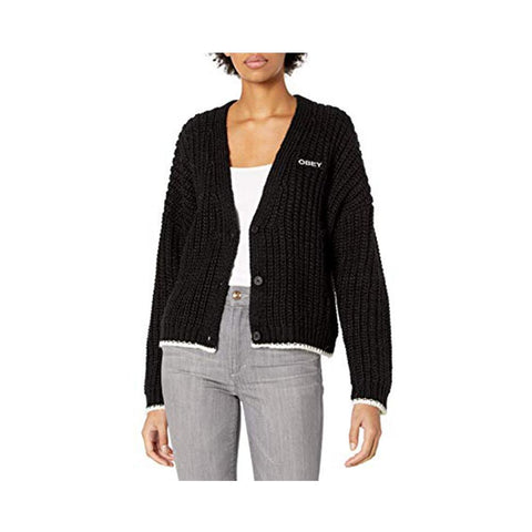 Obey Loeb Cardigan Black 251010051