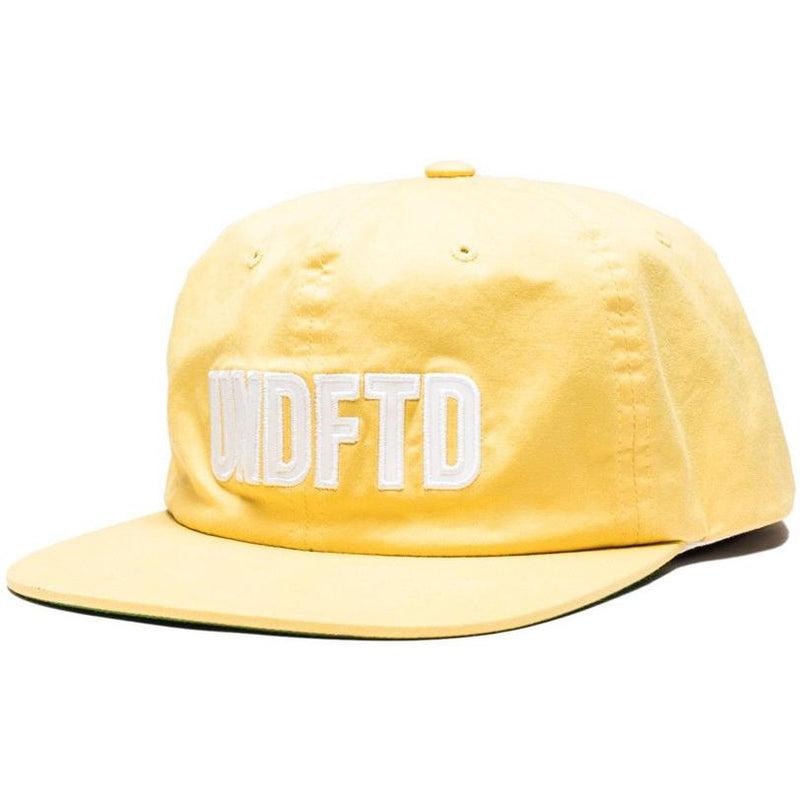 Undefeated Applique Strapback Cap Yellow 531248