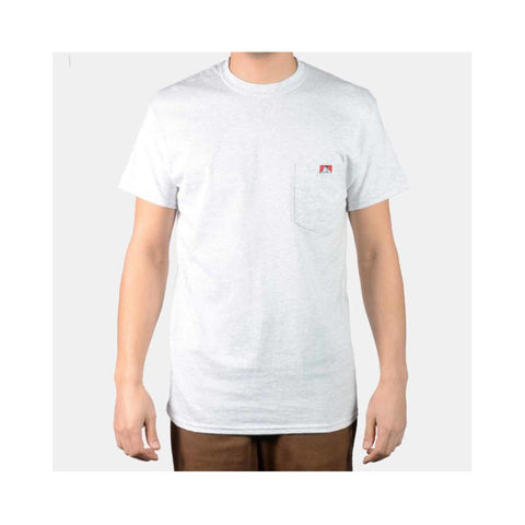Ben Davis Classic Label Pocket T-Shirt Ash Grey 9023