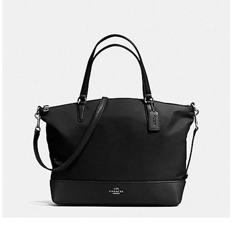 Coach Womens Nylon Satchel Black  F57902