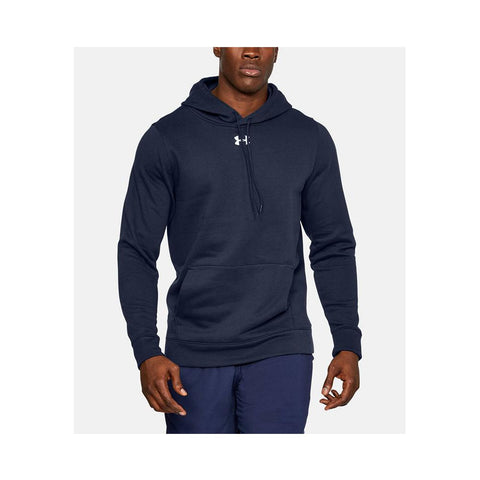 Under Armour  Men's Hustle Fleece Hoodie in Navy/White 1300123-410