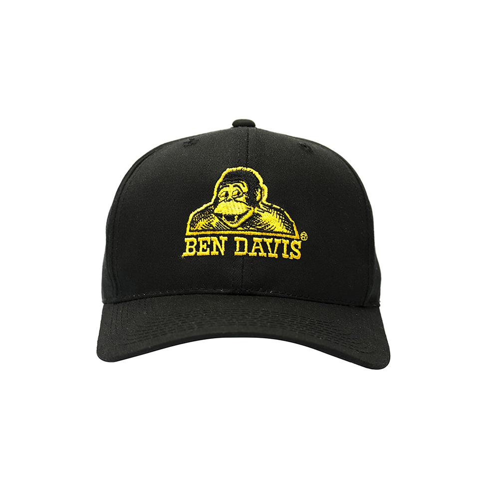 Ben Davis Baseball Cap – Gold Embroidery Black 9290