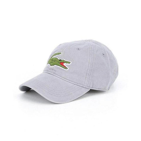Lacoste Men's Big Croc Gabardine Cap Platinum RK8217-51 KC8