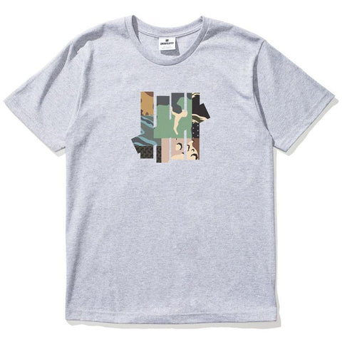 Undefeated Patchwork Strike Grey Heather T-Shirt 5900872