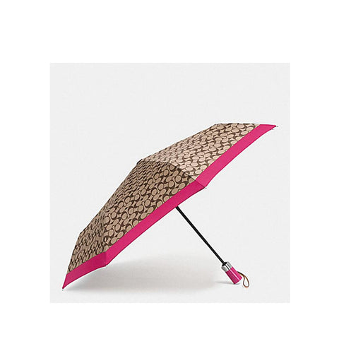 Coach Signature Umbrella Khaki/Strawberry F63364