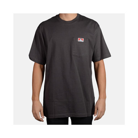 Ben Davis Classic Label Heavy Duty Short Sleeve Pocket T-Shirt Charcoal 911