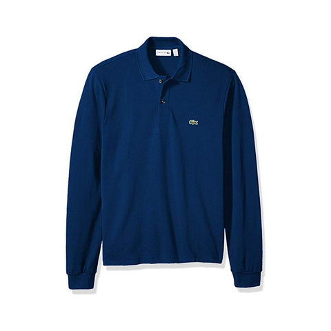 Lacoste Mens Long Sleeve Classic Pique Polo Inkwell L1312-51 CC3