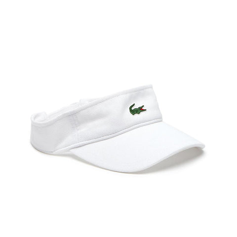 Lacoste Men's Sport Pique and Fleece Tennis Visor White  RK3553-51