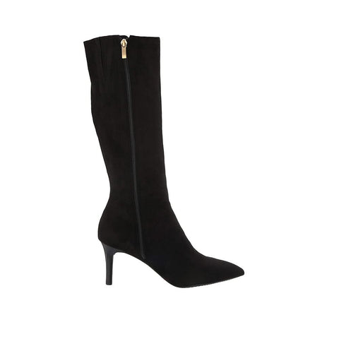 Rockport Total Motion Ariahnna Tall B Knee High Boots Black Faux Suede CH6400