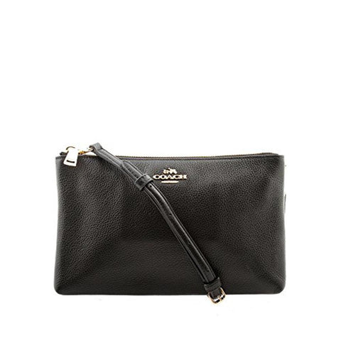 Coach Lyla Crossbody in Pebble Leather Black F38273